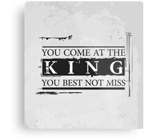 """You Come at the King, You Best Not Miss"" - The Wire (Dark) Metal Print"
