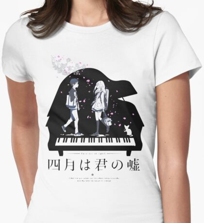 Shigatsu wa Kimi no Uso  Womens Fitted T-Shirt