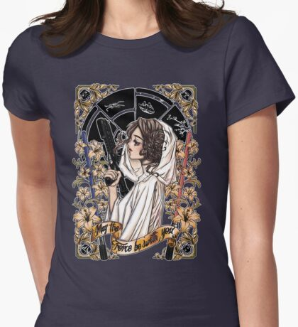 The force of the Princess Leia Womens Fitted T-Shirt