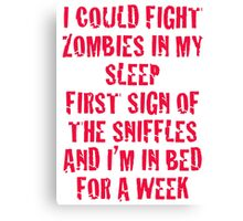 Zombies & Sniffles (Red) Canvas Print