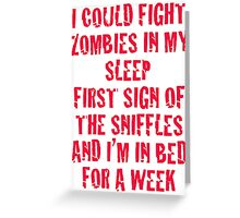Zombies & Sniffles (Red) Greeting Card