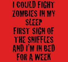 Zombies & Sniffles (Black) Unisex T-Shirt