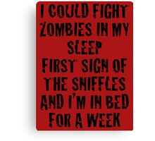Zombies & Sniffles (Black) Canvas Print