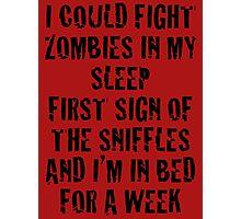 Zombies & Sniffles (Black) Photographic Print