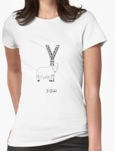 Y is for Yak Womens Fitted T-Shirt