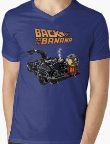 Back To The Banana v2 Mens V-Neck T-Shirt