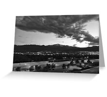 Pikes Peak Sunset #7 (Black and White) Greeting Card