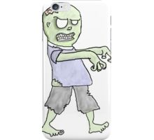 Walking Zombie - Large iPhone Case/Skin