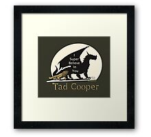 Galavant: I Super Believe In You Tad Cooper V2 Framed Print