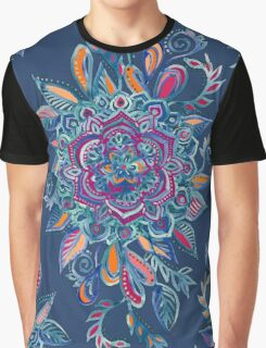 Deep Summer - Watercolor Floral Medallion Graphic T-Shirt