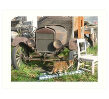 old truck and a tiny dancer Art Print