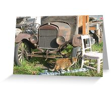 old truck and a tiny dancer Greeting Card