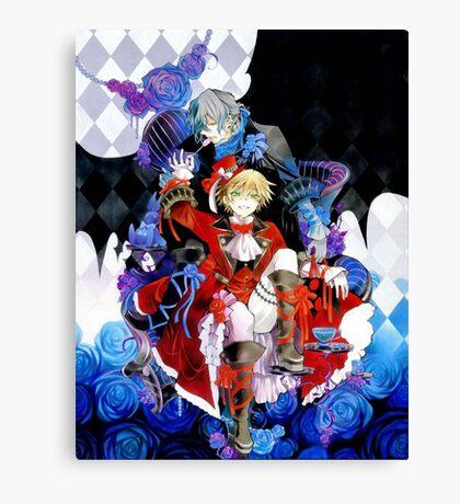 Red & blue shades (Pandora Hearts) Canvas Print