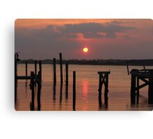 Indiana Sunset in LBNY Photograph Canvas Print