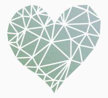 Shattered Heart - Green/Blue One Piece - Short Sleeve