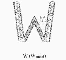 W is for Wombat One Piece - Short Sleeve