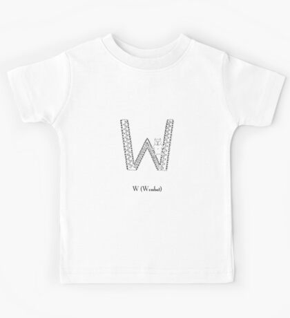 W is for Wombat Kids Tee