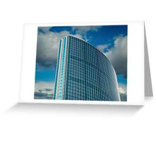 The Blue Skyscraper Greeting Card