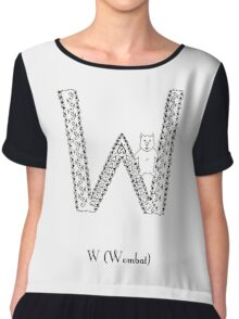 W is for Wombat Chiffon Top