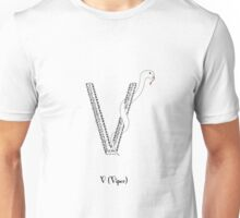 V is for Viper Unisex T-Shirt