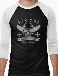 Legendary 1976 Skull Men's Baseball ¾ T-Shirt