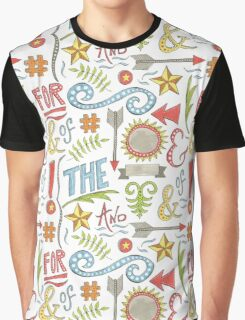 hand drawn typographic elements Graphic T-Shirt
