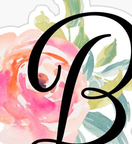 Floral Monogram B Sticker