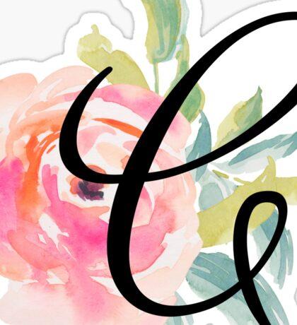 Floral Monogram C Sticker