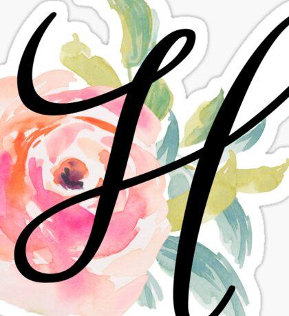 Floral Monogram H Sticker