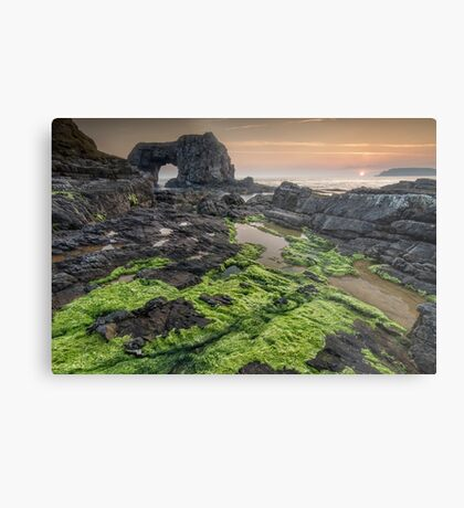 Pollet Great Sea Arch - Fanad Co Donegal Metal Print