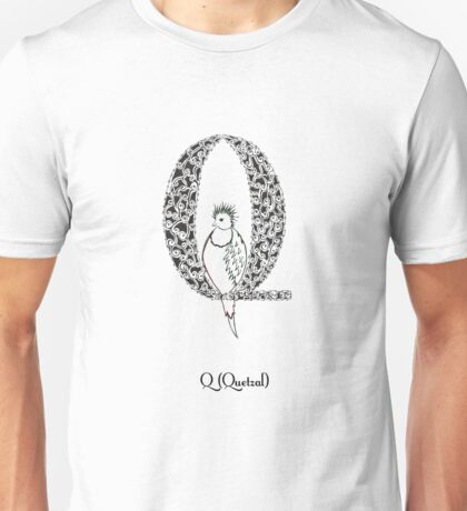 Q is for Quetzal Unisex T-Shirt