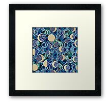 Moon reflection in the water.  Framed Print