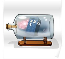 Tardis in a bottle Poster