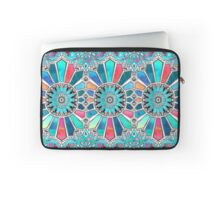Iridescent Watercolor Brights on White Laptop Sleeve