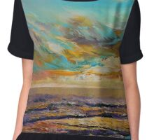 Tahiti Sunset Chiffon Top