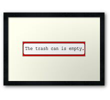 The trash can - Red Framed Print