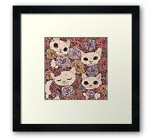cute cats Framed Print