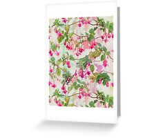 Rainbow Fuchsia Floral Pattern Greeting Card
