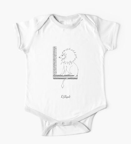 L is for Lion One Piece - Short Sleeve