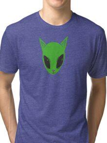 Alien Kitty Tri-blend T-Shirt