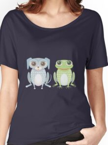 Prince Frog and Lanky Dog Women's Relaxed Fit T-Shirt