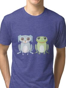 Prince Frog and Lanky Dog Tri-blend T-Shirt