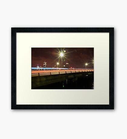 Boston At Night Framed Print