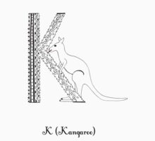 K is for Kangaroo Baby Tee