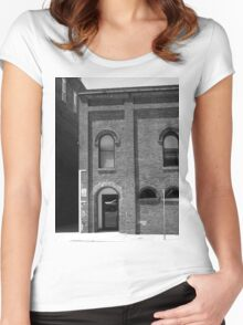 Burlington, North Carolina - Arches and Alley Women's Fitted Scoop T-Shirt