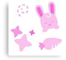 Gangster Bunny, Playful Pattern Canvas Print