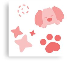 Potato Puppy, Playful Pattern Canvas Print