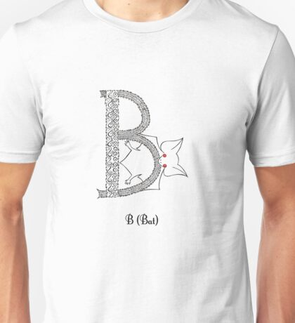 B is for Bat Unisex T-Shirt