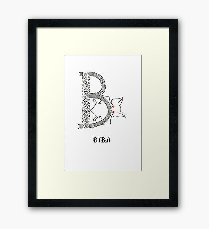 B is for Bat Framed Print