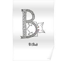 B is for Bat Poster